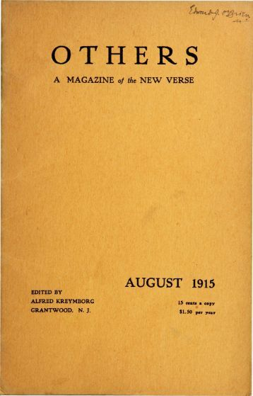 Others Vol. 1, No. 2 (August, 1915)