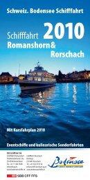 SBS Schififahrt AG Romanshorn - Schweizerische Bodensee ...