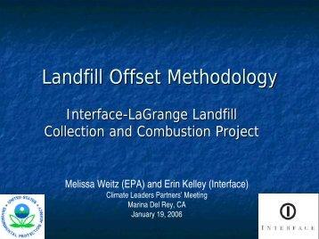 Landfill Offset Methodology: Interface-LaGrange Landfill Collection ...