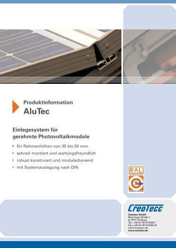 AluTec – Einlegesystem für gerahmte ... - Solarblitz.ch