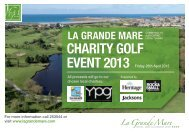 La Grande Mare Charity Golf Day 2013 - Sustainable Guernsey