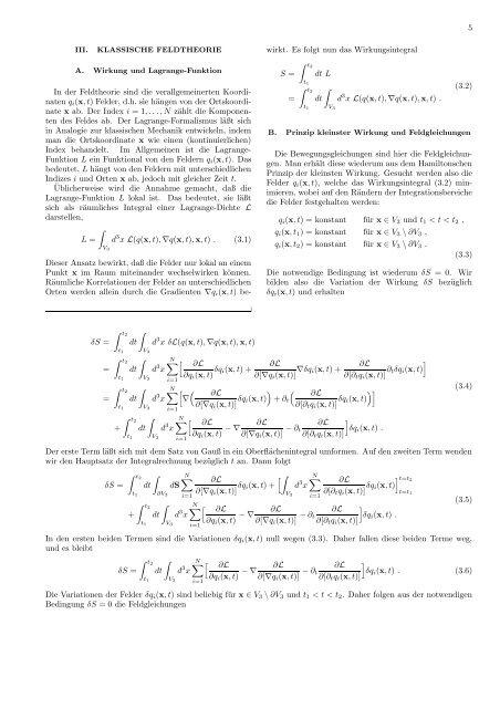 Lagrange-Formalismus für Elektrodynamik und Gravitation
