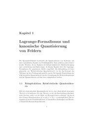 Lagrange-Formalismus und kanonische Quantisierung von Feldern