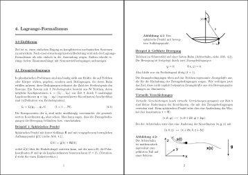 4. Lagrange-Formalismus