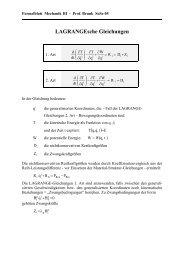 LAGRANGE-Gleichungen allgemein - Institut für Mechanik der TU ...