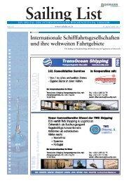 Internationale Schifffahrtsgesellschaften und ihre ... - Verkehr
