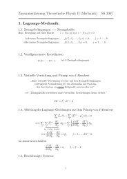 Zusammenfassung Theoretische Physik II (Mechanik) SS 2007 1 ...