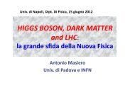 HIGGS BOSON, DARK MATTER and LHC: - INFN