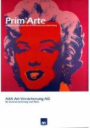 Flyer von AXA Art Versicherung AG