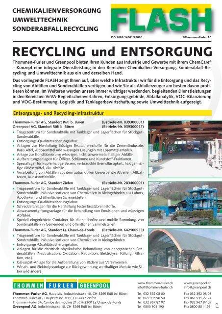 Recycling und entsorgung thommen furler ag - Mobel entsorgung gratis ...