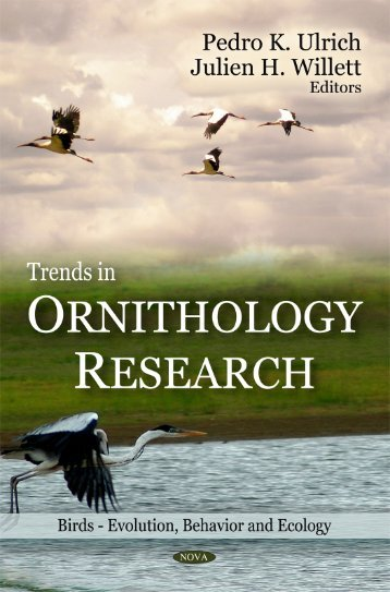 Trends in Ornithology Research (Birds - Evolution, Behavior and