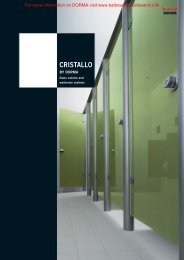 Glass Fittings: Cubicles and Washroom Systems - CRISTALLO