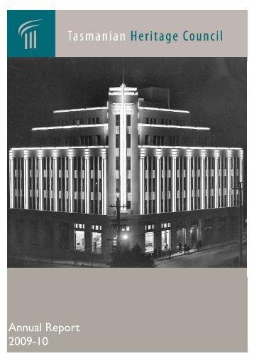 Tasmanian Heritage Council Annual Report 2009-10