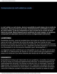 Compression du nerf cubital au coude - Dr Philippe Roure ...