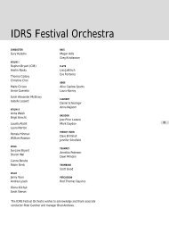 IDRS Festival Orchestra - International Double Reed Society