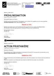 Aktionsflyer - Schibli AG Bellach