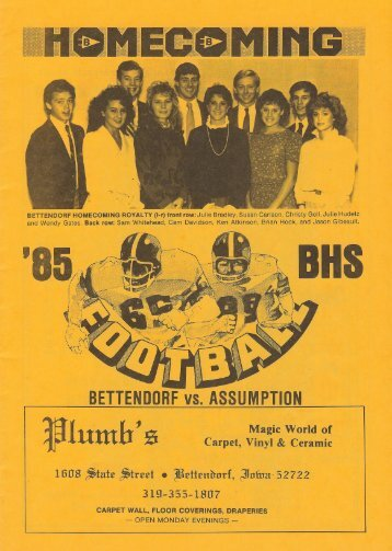 vs. Davenport Assumption Knights - Bettendorf Footbal