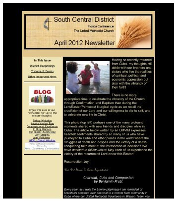 April 2012 - South Central District