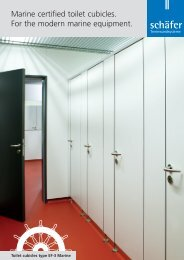 Marine certified toilet cubicles. For the modern marine equipment.