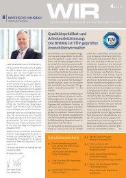 WIR - Das Mitarbeitermagazin der Bayerischen Hausbau 04-2011