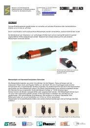 ISOMAP Produktunterlagen - Schibli AG Bellach