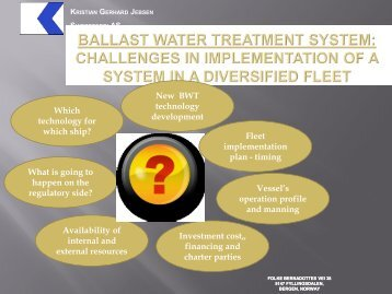 BALLAST WATER TREATMENT system: Challenges in ...