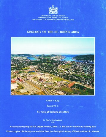 Geology of the St. John's Area - Government of Newfoundland and ...