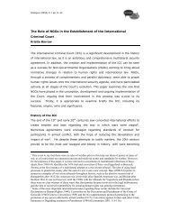 The Role of NGOs in the Establishment of - School of Political ...