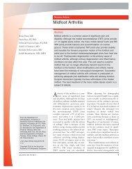 Midfoot Arthritis - New York University