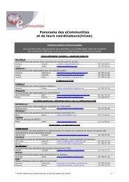 De contactpersonen, verantwoordelijk voor het ... - Fedweb - Belgium