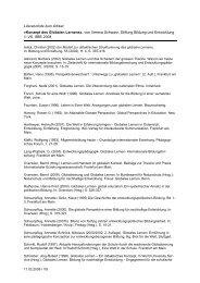 Literaturliste (PDF, 27 Kb) - Stiftung Bildung und Entwicklung
