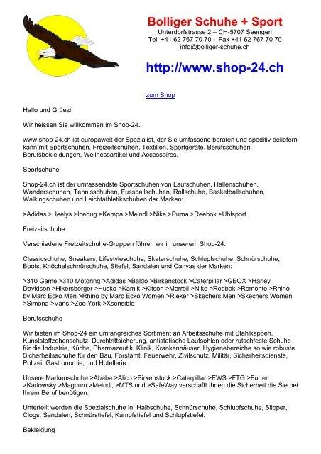 4b628c36394244 http   www.shop-24.ch - Bolliger Schuhe und Sport