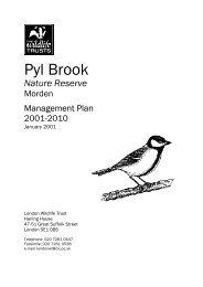 Pyl Brook Management Plan 2001 - 2010 - Merton Council