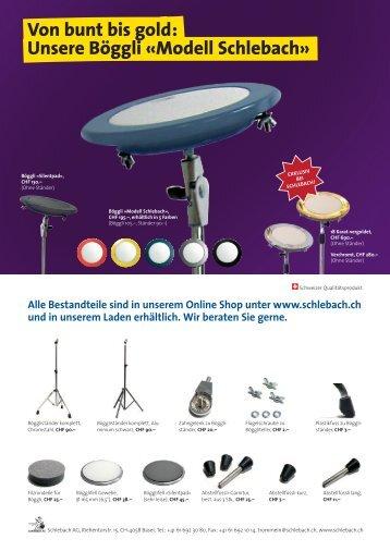 Alle Bestandteile sind in unserem Online Shop ... - Schlebach AG