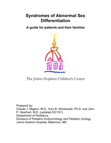 Syndromes of Abnormal Sex Differentiation - Johns Hopkins ...