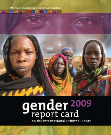 2009 Gender Report Card - Women's Initiatives For Gender Justice
