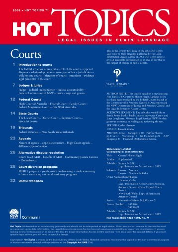 Courts, Hot Topics No 71 - Legal Information Access Centre - NSW ...