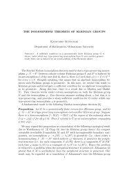 THE ISOMORPHISM THEOREM OF KLEINIAN GROUPS Katsuhiko ...