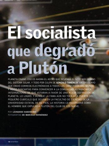 El socialista degradó Plutón