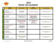 2013 Troop Calendar V2.xlsx - Troop 109