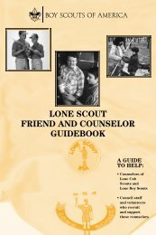 lone scout friend and counselor guidebook - Boy Scouts of America