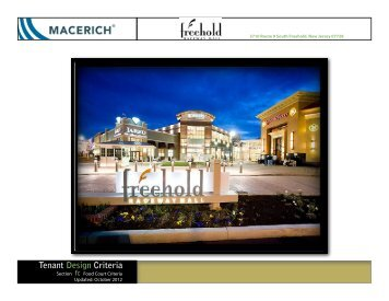 Food Court Tenant Design Criteria - Macerich