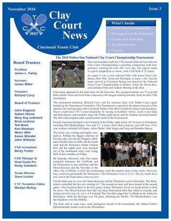 Clay Court News - Cincinnati Tennis Club
