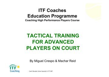 tactical training for advanced players on court - Coaching - ITF