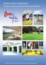TENNIS COURT EQUIPMENT - Quin Sports Nets
