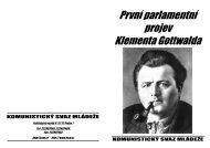 První parlamentní projev Klementa Gottwalda - Komunistický svaz ...