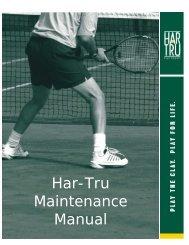 Lee clay court maintenance (PDF) - NASA-Goddard Tennis Club