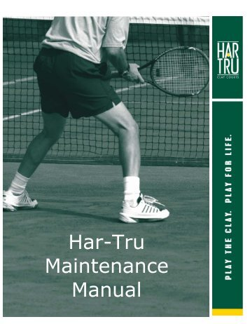 Lee clay court maintenance (PDF) - NASA-Goddard Tennis Club