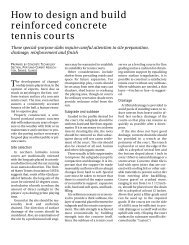 How to design and build reinforced concrete tennis courts