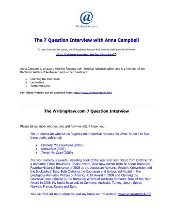 The 7 Question Interview With Cayla Kluver Writing Raw